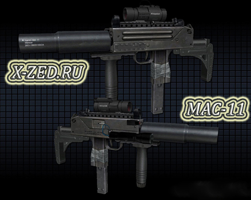 Оружие Tactical Mac-11 для css - Скачать