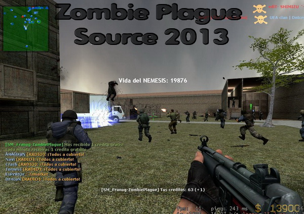 Мод Zombie Plague Source 2013 для сервера css - Скачать