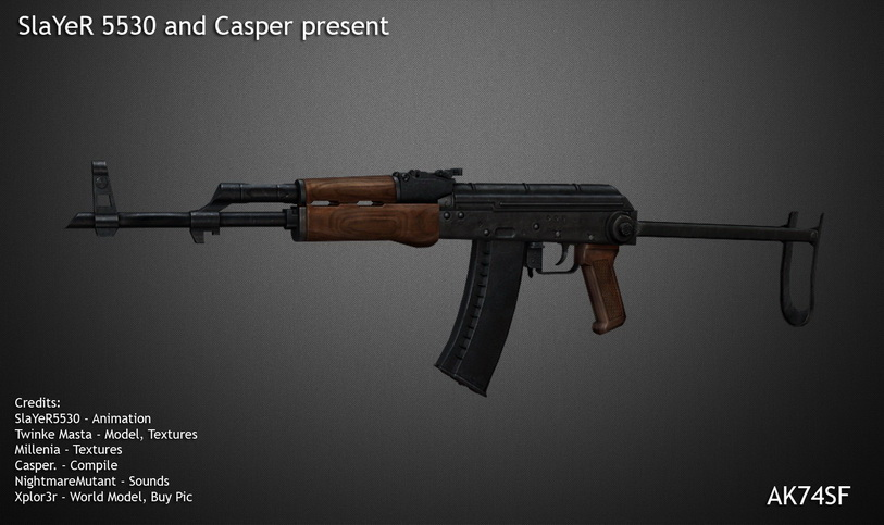 Модель ak 74 slayer для css - Скачать