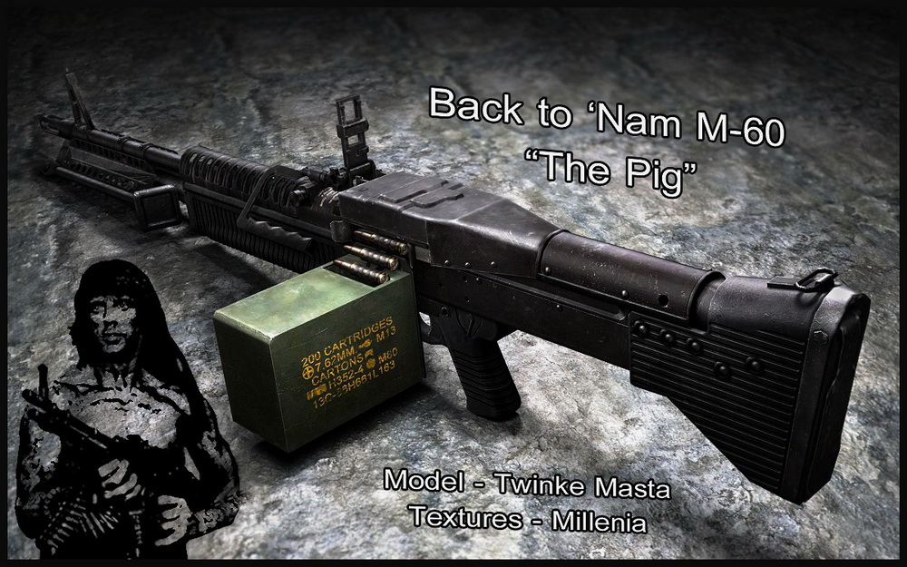 Back to Nam M-60 Revival пулемёт для css - Скачать