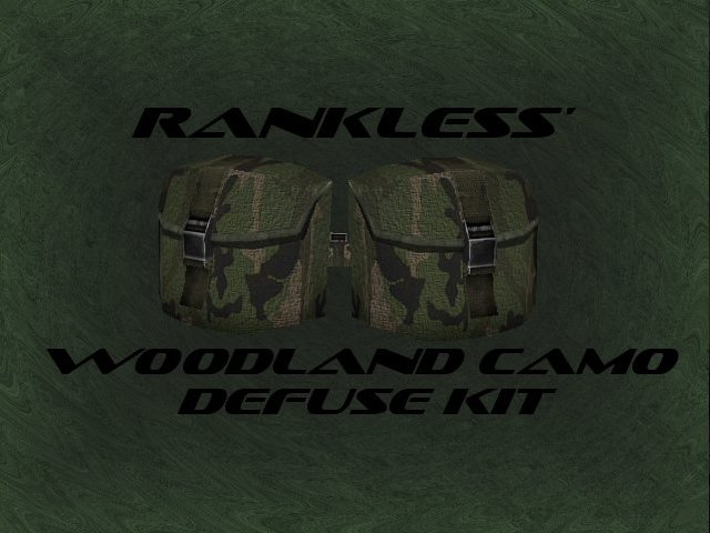 Rankless woodland camo defuse kit для css - Скачать