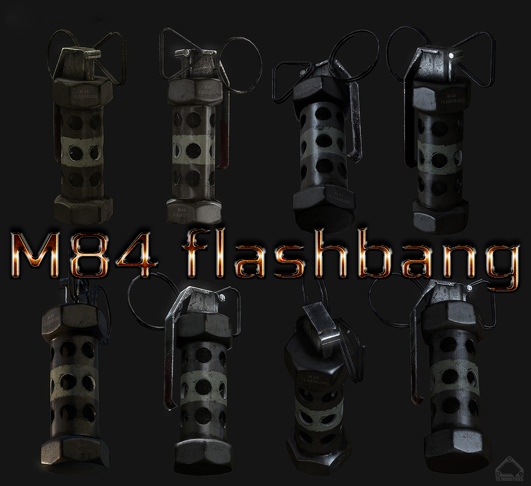 M84 flashbang (two color) световая граната для css - Скачать